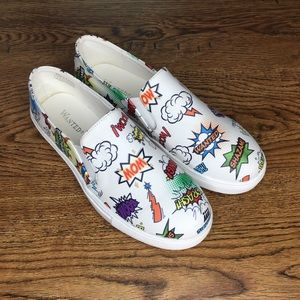 Wanted comic slip on shoes 8